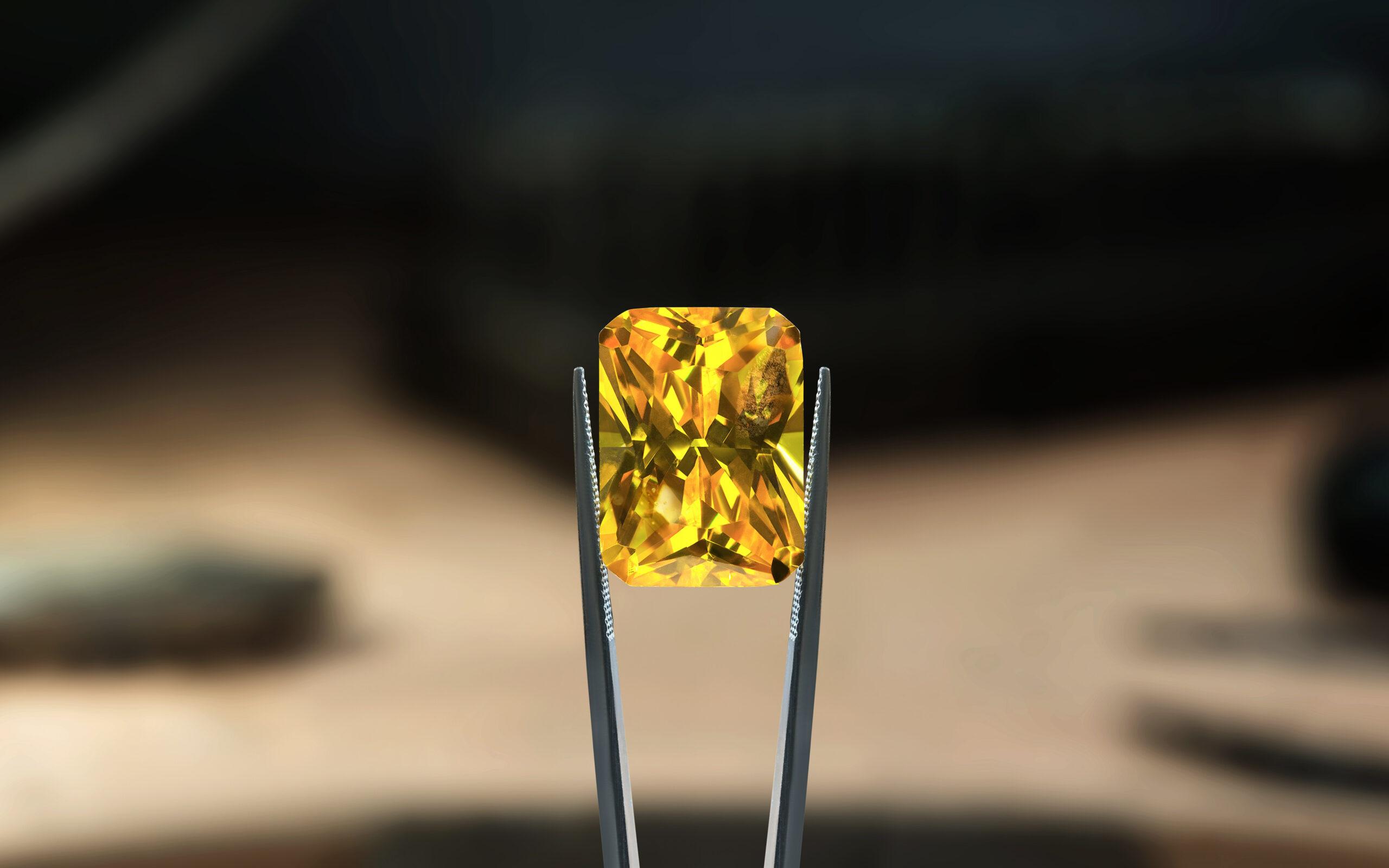 Yellow Sapphire Background